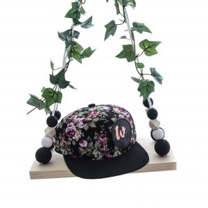 Black Floral Snapback